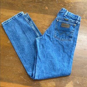 Wrangler George Strait Cowboy Cut Blue Jeans Denim